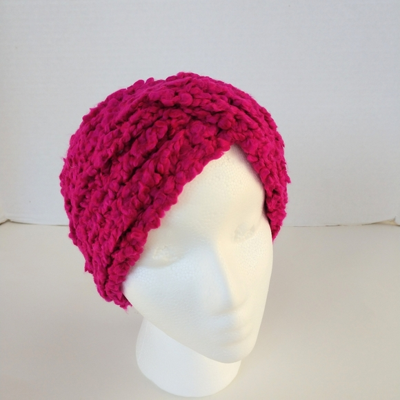 Chunky Turban Hat Messy Hair Headband in Soft Pink Color Knit Headband Knitted Earwarmer